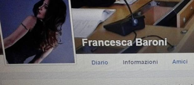 Francesca Baroni risulta single sullo stato sentimentale Facebook