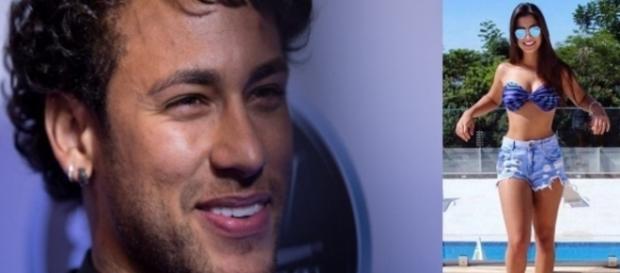 Neymar e moça que supostamente estaria interessado