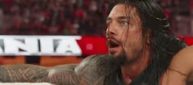Will Roman Reigns be part of the main event at 'WrestleMania 34' next year? [Image via WWE/YouTube]