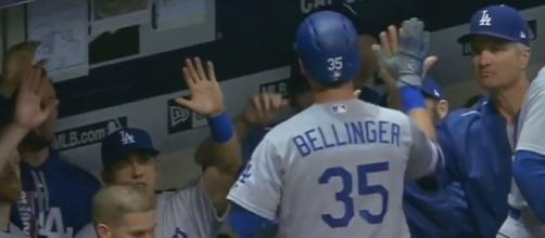Bellinger after his crucial homer, Youtube, MLB channel, https://www.youtube.com/watch?v=CnHTg_ZGBFg