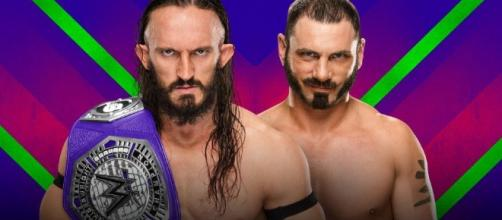 Neville defends the Cruiserweight title vs. Austin Aries in a submission match on Sunday. [Image via Blasting News image library/thecomeback.com]