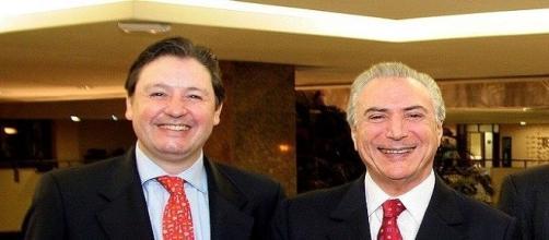 Rodrigo Rocha Loures e Michel Temer