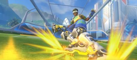 """""""Overwatch"""" data miners acquired the Summer Games logo from patch 1.13 on PTR (via YouTube/PlayOverwatch)"""