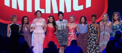 "All Disney Princesses appear for ""Wreck-It Ralph 2"" at D23 Expo 2017 (Image Credit: Inside the Magic/YouTube)"