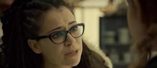 """Cosima (Tatiana Maslany) makes a terrible discovery in """"Orphan Black"""" Season 5 Episode 4 """"Let the Children & the Childbearers Toil."""""""