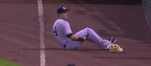 Dustin Fowler Injury in MLB Debut - The Highlight Hub via YouTube (https://www.youtube.com/watch?v=5VGOxwcoeuk)