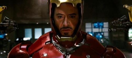 Robert Downey Jr. is seen on set with possible new Iron Man's suit.