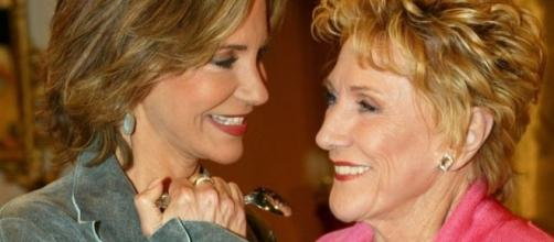 Jill Abbot and Katherine Chancellor Image source BN library