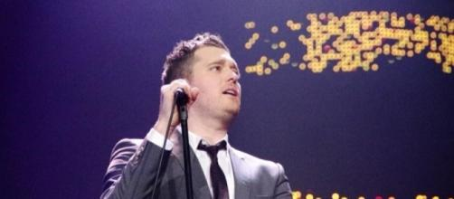 Michael Bublé makes his first public appearance after his son was diagnosed with cancer last November. (Wikimedia/ MrArifnajafov)