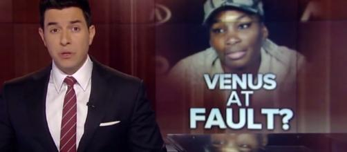 Venus Williams involved in a car crash which killed an old man. Image via YouTube/ABC News