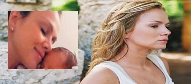 Eliana, que na foto aparece com primeiro filho, compartilha foto de ultrassom de Manuela (Foto: Reprodução)