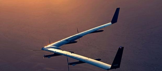 Facebook's internet drone takes to the skies again | image source Youtube screen grab