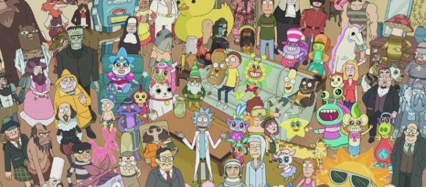 Rick and Morty characters from season 2 - Photo via Adult Swim