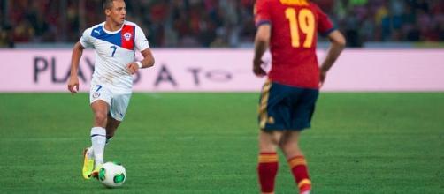 Alexis Sanchez - Spain vs. Chile Fanny Schertzer cc wikimedia