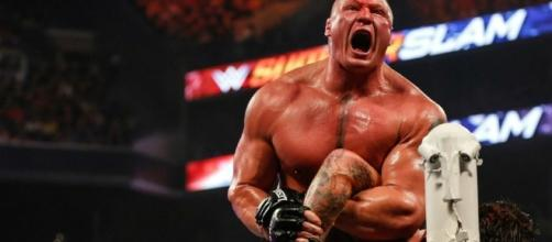 Brock Lesnar will find out his next opponent after Sunday's WWE 'Extreme Rules' PPV. [Image via Blasting News image library/inquisitr.com]