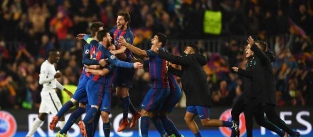 Foto Barcelona Champions en la remontada al PSG