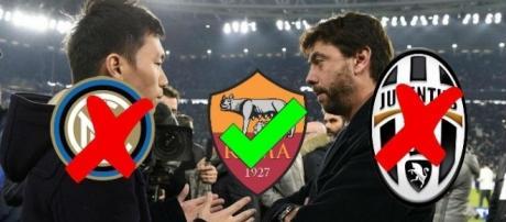 Inter e Juventus beffate dalla Roma