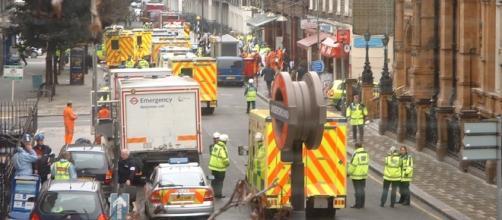 Un'immagine degli attentati a Londra