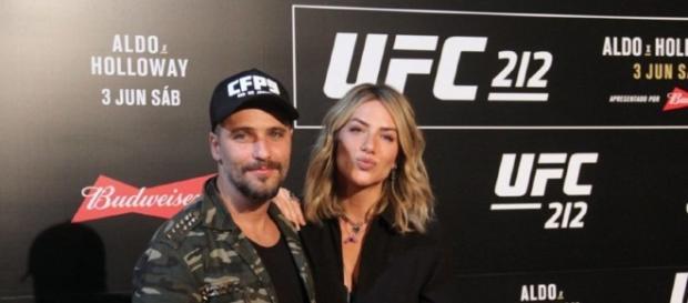 Bruno Gagliasso e Giovanna Ewbank antes da disputa do UFC Rio (Foto: Divulgação)