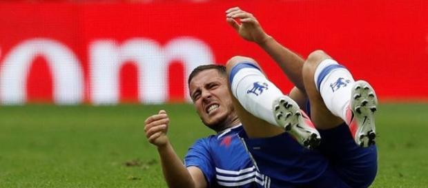 Eden Hazard, durante un partido con el Chelsea esta temporada