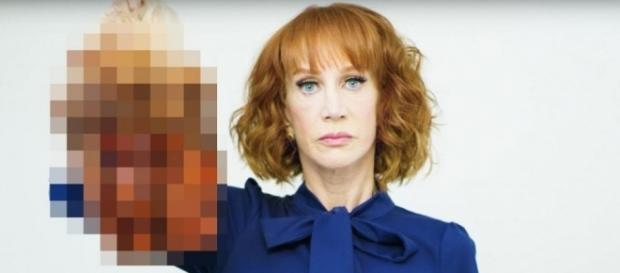 Kathy Griffin regrets having posted the disturbing image of Trump's bloodied head - AP - scmp.com