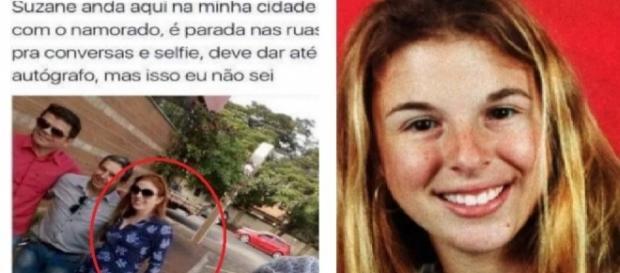 Suzane Richthofen atende pedidos de 'selfies' nas ruas