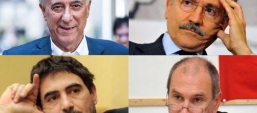 Alcuni dei politici che dovrebbero dare vita alla nuova Sinistra unita