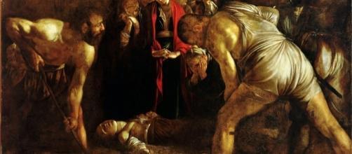 Caravaggio, la prima opera della stagione siciliana: Il seppellimento di Santa Lucia - 1608 - Chiesa di Santa Lucia alla Badia, Siracusa