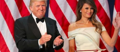 Donald and Melania Trump at Armed Services Ball by U.S. Army Sgt. Kalie Jones CCO Public Domain