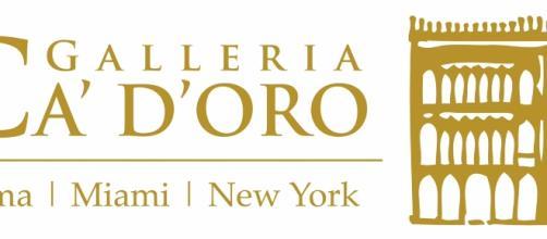 """Logo della Galleria Ca'D'oro che nella sua sede romana ospita la mostra """"Schola Pictorum"""""""