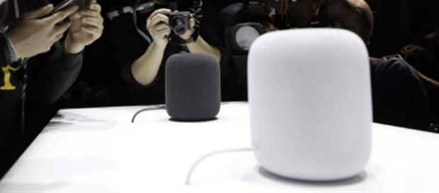 Apple unveils 'HomePod' speaker, first new product in years (in black and white variants). / from 'The Toledo Blade' - toledoblade.com