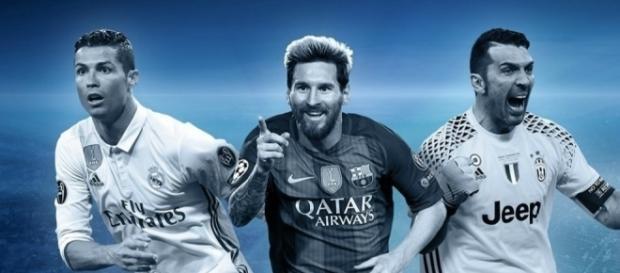Cristiano Ronaldo, Leo Messi y Buffon