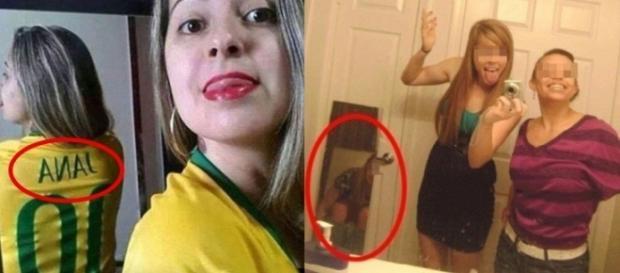 Fotos de pessoas traídas pelo espelho