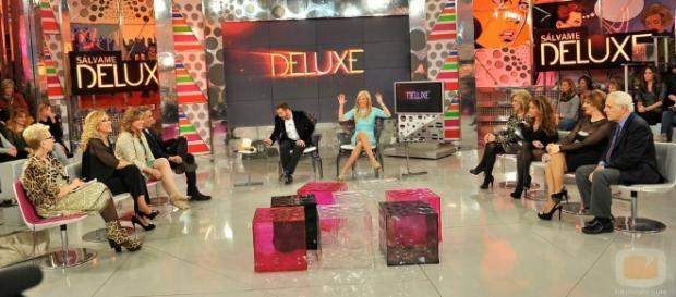 Los colaboradores de Sálvame Deluxe durante una emisión del programa