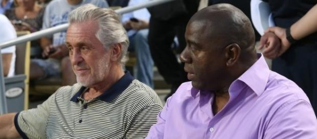 Magic Johnson and Pat Riley Photos Photos - San Francisco Giants v ... - zimbio.com