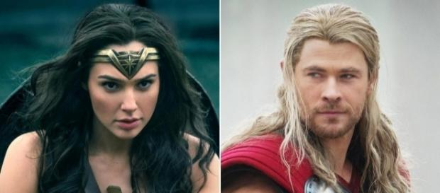 Wonder Woman: Gal Gadot, Chris Hemsworth tease each other on Twitter. / from 'Entertainment Weekly' - ew.com