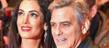 Amal and George Clooney welcome Ella and Alexander. (Flickr/www.GlynLowe.com)