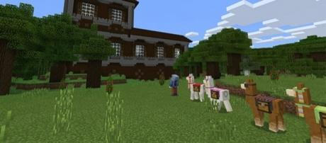 "Llama and Woodland Mansion teased for the next ""Minecraft: Console Edition"" update."