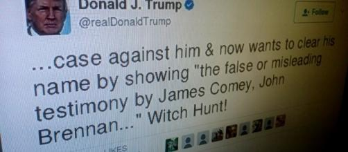 Donald Trump's personal anti-Comey tweet. / Photo by CommonsDune via Flickr | CC BY-SA 2.0