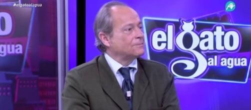 Eduardo García durante un debate en Intereconomía