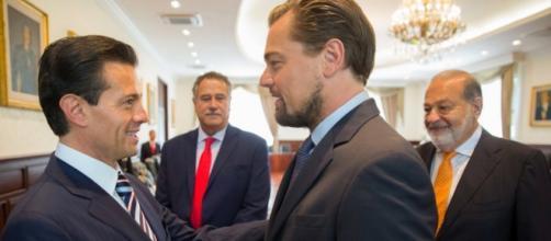 Enrique Peña Nieto y Leonardo DiCaprio