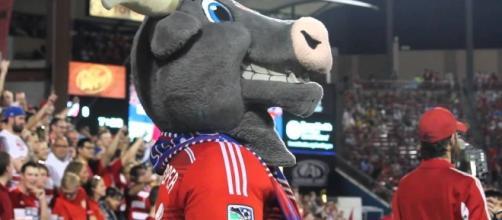 FC Dallas mascot — [Image: Screenshot/Mike Britton - YouTube]