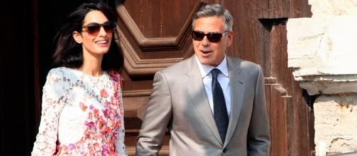 George Clooney and Amal Clooney/photo via marieclaire.co.uk