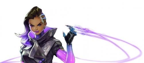 Ilustración de la página oficial de Blizzard, del personaje Sombra.