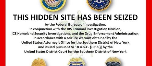 Image placed on Silk Road hidden service after arrest of Ross William Ulbricht (Dread Pirate Roberts) / Photo by FBI CCO PD