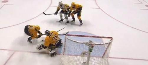Rinne made 23 saves, NHL Youtube channel https://www.youtube.com/watch?v=DrLUvKrRE-I