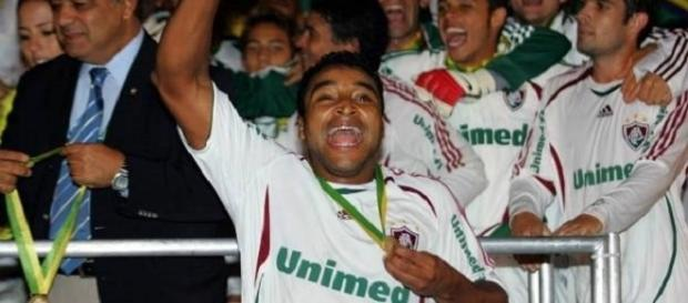 Atual técnico do Atlético-MG, Roger fez o gol do título do Flu da Copa do Brasil de 2007 (Foto: ESPN)