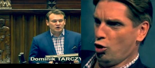 Parlamentarzysta Dominik Tarczyński, Prawo i Sprawiedliwość (źródło: Masakracja).