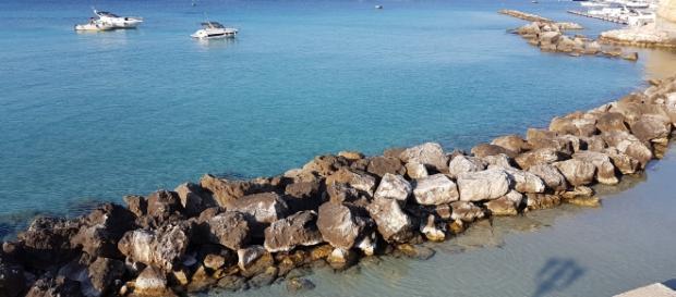 Una foto del mare del Salento.