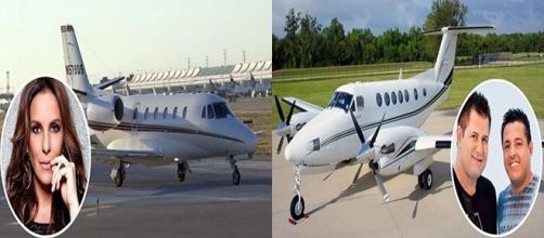Famosos brasileiros e seus aviões